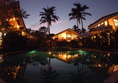 GOA VILLA COCO SHAMBHALA FISH EYE NIGHT SHOT