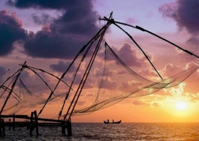3. DRAMATIC FORT COCHIN FISHING NET SHOT